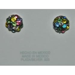 Broqueles cristal multicolor A