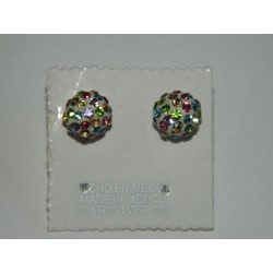 Broqueles cristal multicolor B