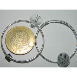 Arracadas circulares lisas de 4.1 cm