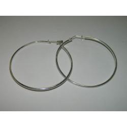Arracadas circulares lisas de 5.4 cm