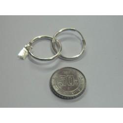 Arracadas circulares lisas de 1.6 cm