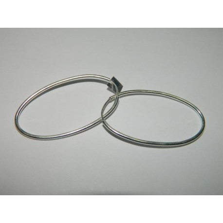 Arracadas ovales de 4.2 cm