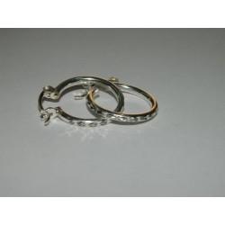 Arracadas circulares diamantadas de 1.9 cm