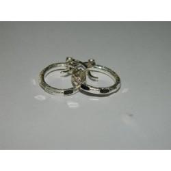 Arracadas circulares diamantadas de 1.6 cm