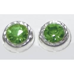 Broqueles medianos de Piedra verde - 9 mm