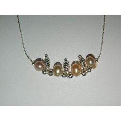 Pulsera de perlas con plata