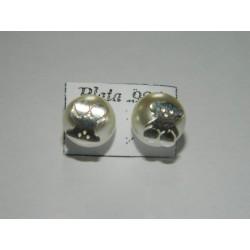 Broqueles de Tous con perlas sint. de 8 mm