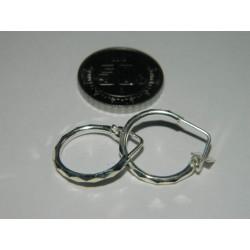 Arracadita circular facetada | 1.4 cm | 1 gr