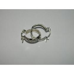 Arracada de greca maya circular | 1.95 cm | 1.6 gr