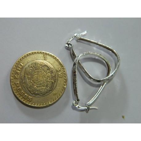 Arracadas de gota 2.9 cm | 2.7 gr diamantado