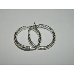 Arracadas circ. 1.7 cm | 1.5 gr - diamantado lindo