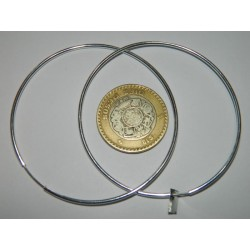 Arracadas de 6.3 cm | 4.7 gr | grandes lisas circulares