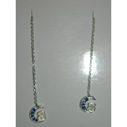Aretes viol. de tous piedras azules