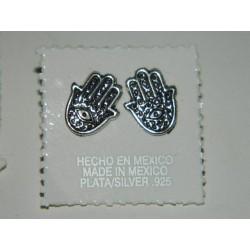 Broqueles de mano de fátima oxidados