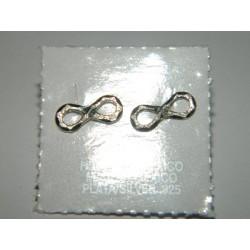 Broqueles de infinito minis diamantados