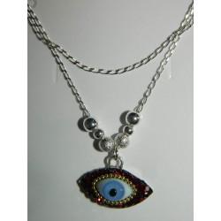 Juego de ojo azul con cristales