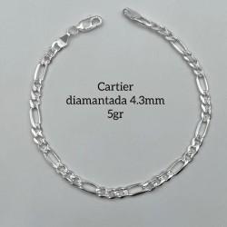 Cadena Cartier Diamantada 5 gr.