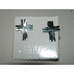 Broqueles de Cruz Diamantados y Arenados