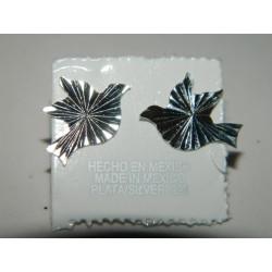 Broqueles de Paloma Diamantados y Arenados