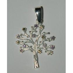 Dije de árbol de la vida con zirconias de varios colores