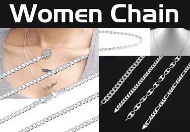 Women Silver Chains